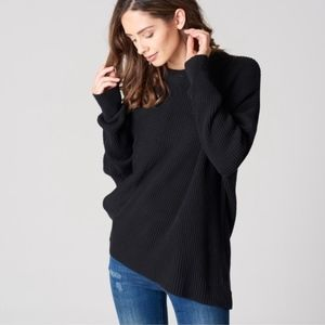Free People Downtown Dolman Asymmetrical Sweater